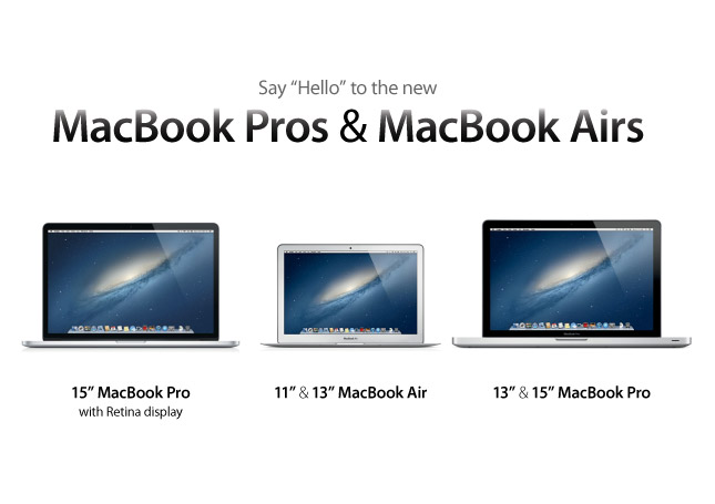 Macbook Air and Macbook Pro